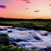 Gaski Waterfall, Grafarlandaa River Poster