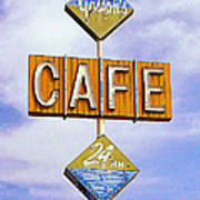 Gaston's Cafe Poster by Ron Regalado