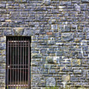 Gate Entrance On Stone Wall Poster