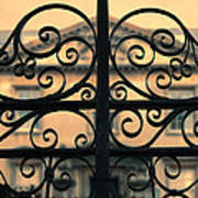Gate In Front Of Mansion Poster