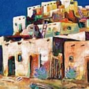 Gateway Into  The  Pueblo Poster by Frances Marino