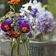 Gathering Wildflowers Poster