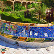 Gaudi's Park Guell - Impressions Of Barcelona Poster