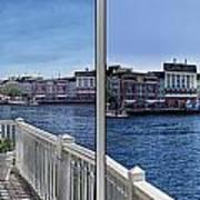 Gazebo 02 Disney World Boardwalk Boat Passing By 2 Panel Poster