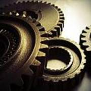 Gears Poster by Les Cunliffe
