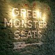 Geen Monster Seats Sign Poster