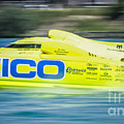Geico Off Shore Racing Poster