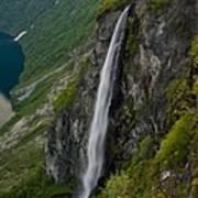 Geirangerfjord Waterfall Poster