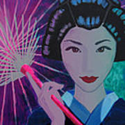 Geisha Girl Poster