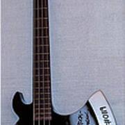 Gene Simmons Hatchet Bass Guitar Poster