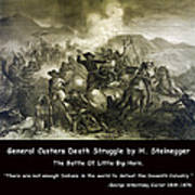 General Custers Death Struggle Poster