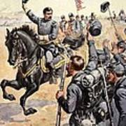 General Mcclellan At The Battle Poster by Henry Alexander Ogden