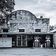 General Store In Independence Texas Bw Poster