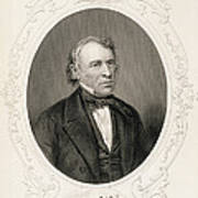 General Zachary Taylor, From The History Of The United States, Vol. II, By Charles Mackay, Engraved Poster