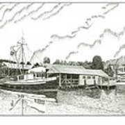 Genius Ready To Fish Gig Harbor Poster by Jack Pumphrey