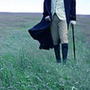 Gentleman Walking In The Country Poster by Jill Battaglia