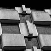 Geometric Building Poster