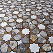 Geometric Marble Floor Design At Lahore Fort Poster