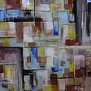 Geometric Modern Painting Original On Canvas Poster