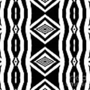 Geometric Pattern Abstract Black White Art No.339. Poster by Drinka Mercep