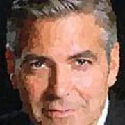 George Clooney Portrait Poster