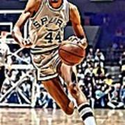 George Gervin Poster by Florian Rodarte