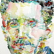 George Orwell Watercolor Portrait Poster