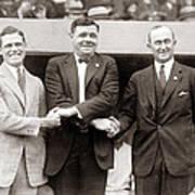 George Sisler Babe Ruth Ty Cobb Poster