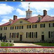 George Washington's Mount Vernon Poster