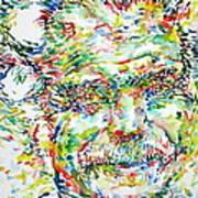 Georges Brassens Portrait Poster