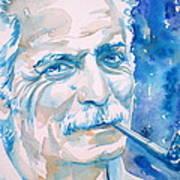Georges Brassens - Watercolor Portrait Poster
