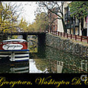 Georgetown Canal Poster Poster