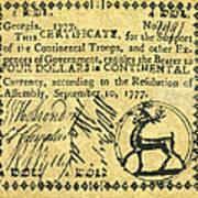 Georgia Banknote, 1777 Poster