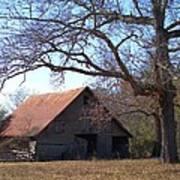 Georgia Barn In Winter Poster