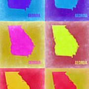 Georgia Pop Art Map 2 Poster