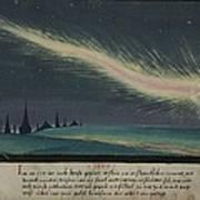 German Comet Illustration Poster