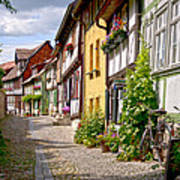 German Old Village Quedlinburg Poster