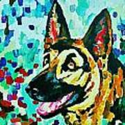 German Shepard Watercolor Poster