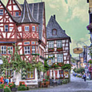 German Village Along Rhine River Poster