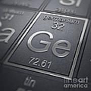 Germanium Chemical Element Poster