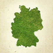 Germany Grass Map Poster