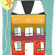 Get Well Card Poster by Linda Woods