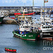 Getaria Fishing Fleet Poster