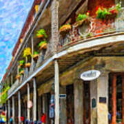 Getting Around The French Quarter - Watercolor Poster