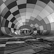 Getting Inflated-bw Poster