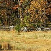 Gettysburg Battlefield October Poster