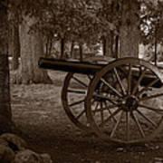 Gettysburg Cannon B W Poster