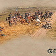 Gettysburg Cyclorama Detail Pickett's Charge  Poster