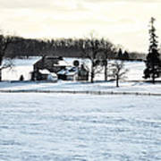 Gettysburg Farm In The Snow Poster