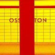 Ghost Station In Red And Yellow Poster